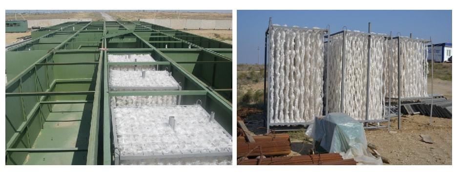 Ершовая загрузка для биологической очистки сточных вод